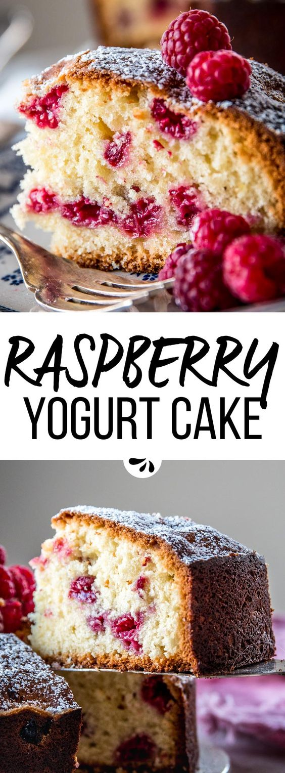 Yogurt Raspberry Cake