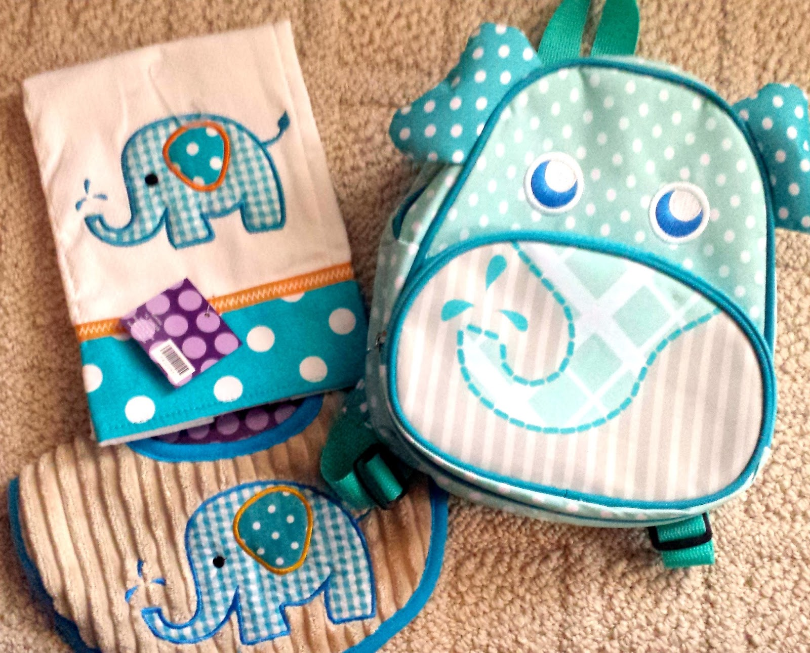 Homemadeville your place for homemade inspiration tips for elephant baby items backpack burp cloth bib paci holder not shown negle Images