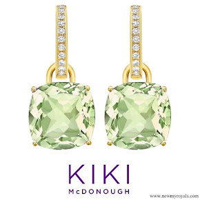 Kate Middleton Jewelry - Kiki Classic Citrine and Diamond Cushion Drop Earrings