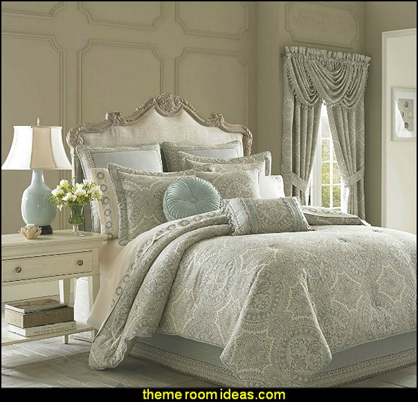 J Queen New York Colette Bedding Luxury bedroom designs - Marie Antoinette Style theme decorating ideas - French provincial furniture baroque style - Louis XVI furniture - Rococo furniture - baroque furniture - marie antoinette bedroom ideas - marie antoinette bedroom furniture
