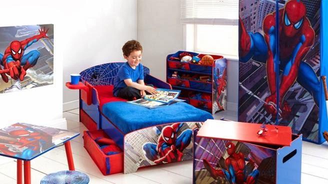 Habitaci n de spiderman dormitorios colores y estilos for Dormitorio super heroes