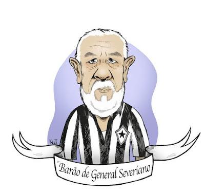 Em dia de jogo decisivo do Botafogo o Barão de General Severiano não consegue pensar