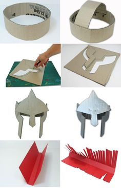 casco soldado romano de cartón