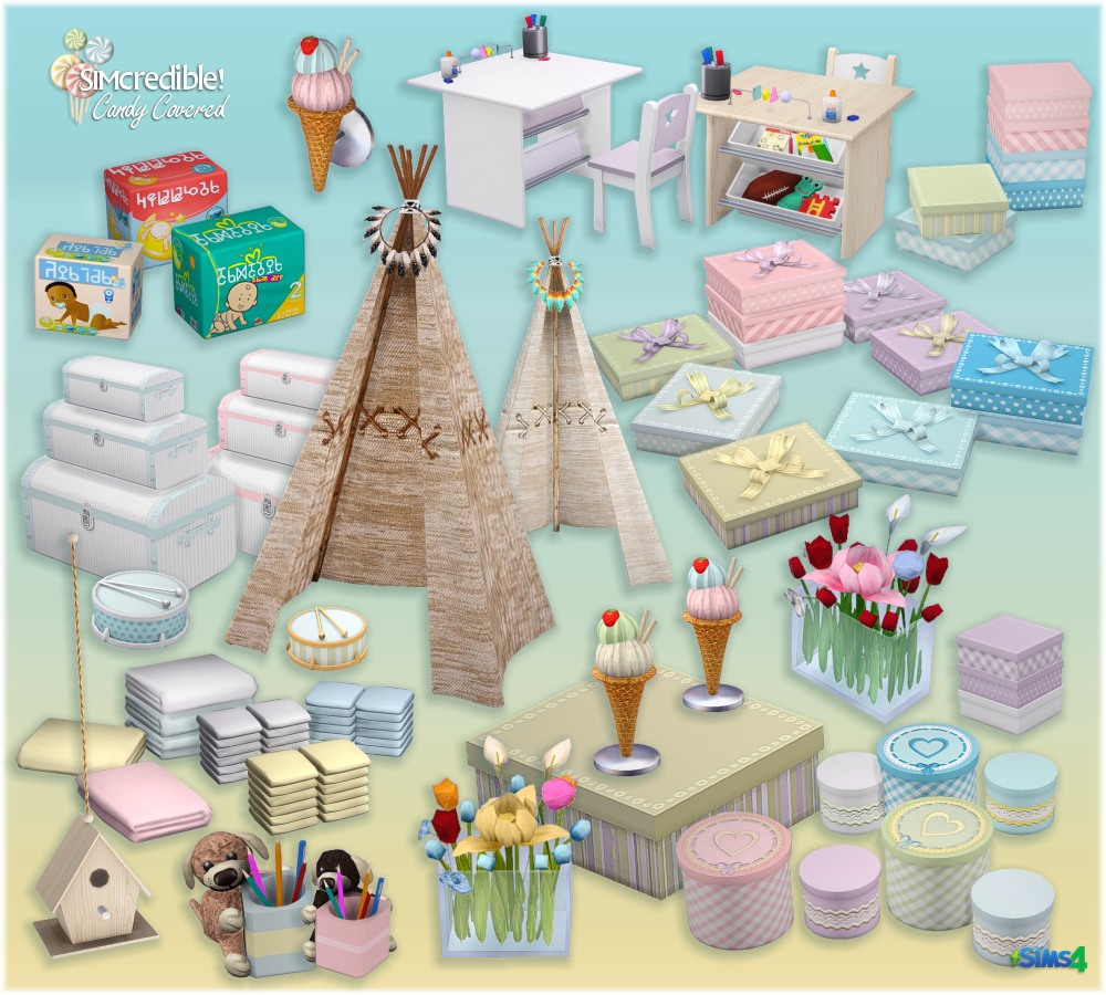 sims 4 cc's - the best: candy covered kid's room set by, Badezimmer ideen
