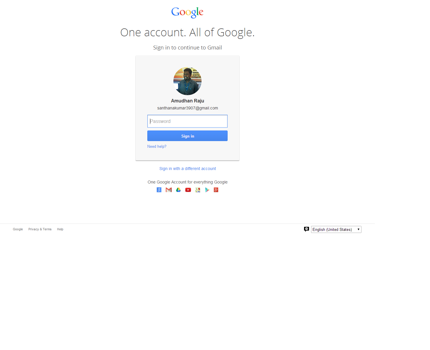 Gmail Login Page - E info Book