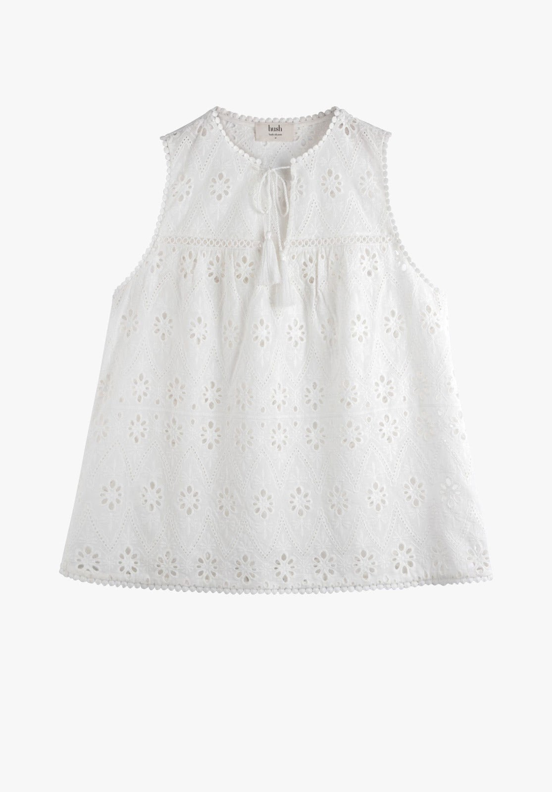 hush ledbury floral embroidered top