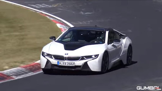 The new super sport car BMW i8 spider appear for the first time during test - CARBYCARS