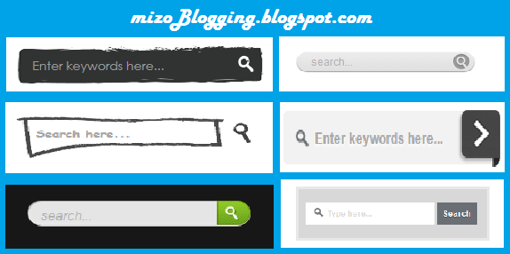 6 cool custom search boxes for blogger