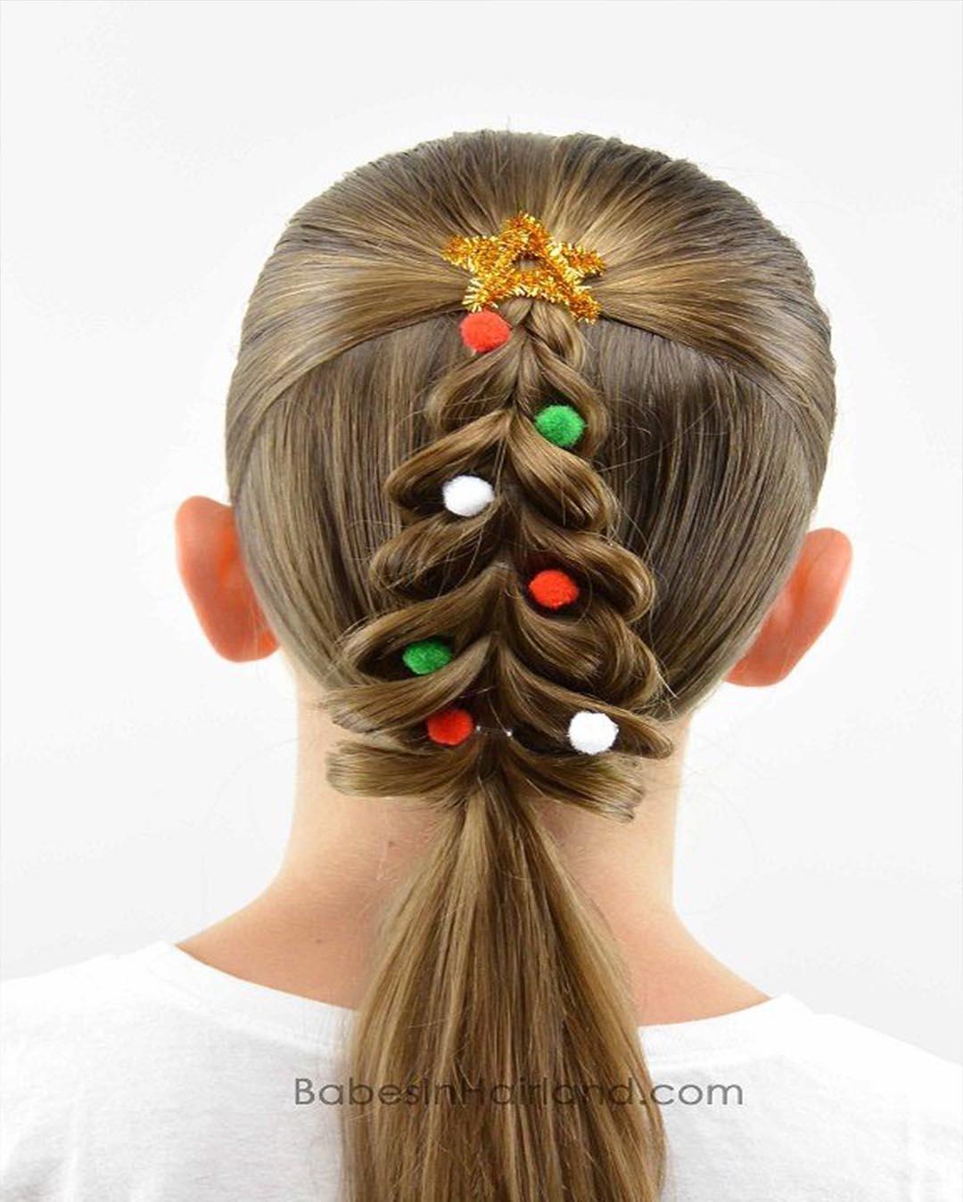Peinados De Navidad Para Ninas Faciles Y Sencillos Elsexoso