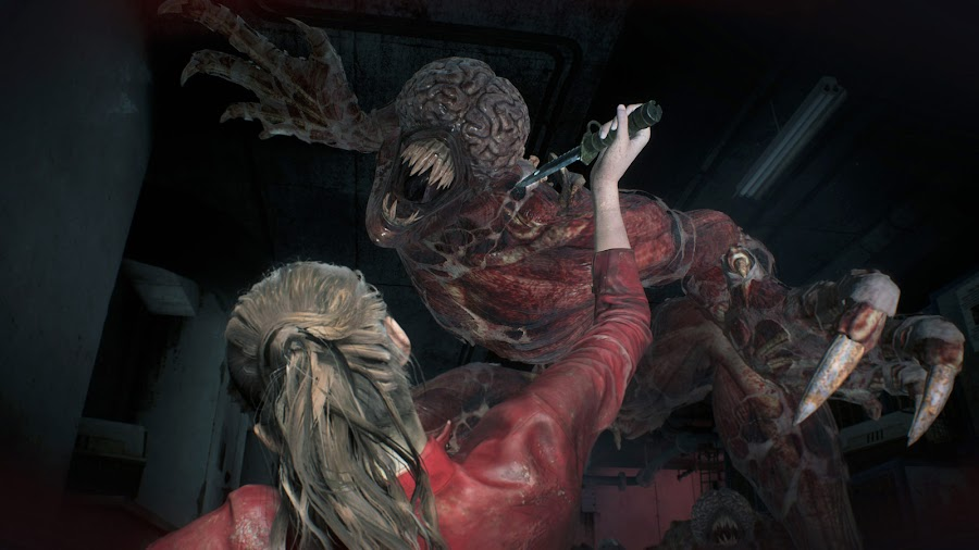 resident evil 2 remake lickers claire redfield gameplay