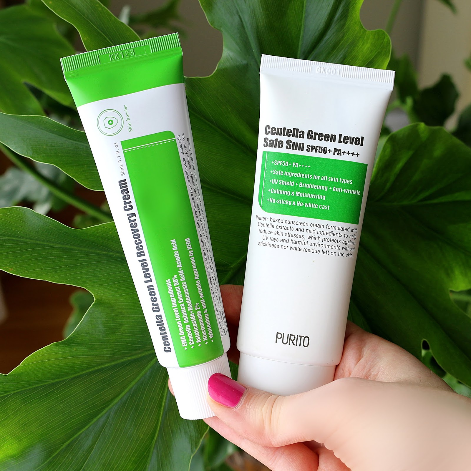 PURITO Centella Green Level Recovery Cream Safe Sun Korean Skincare Review