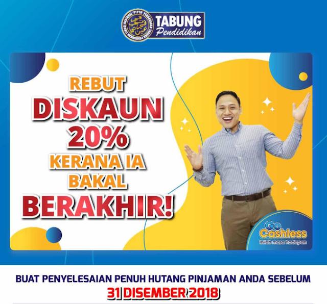Kadar Diskaun Bayaran Balik PTPTN 2019