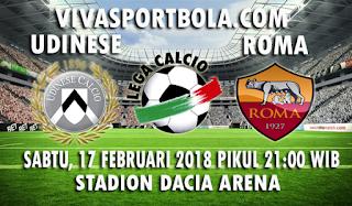 Prediksi Udinese vs Roma 17 Februari 2018
