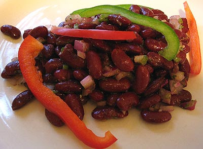 Red Kidney Bean Salad & Harissa Dressing