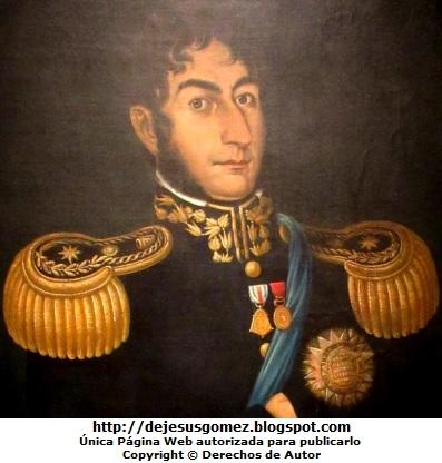 Foto al retrato de José de San Martín tomada de cerca por Jesus Gómez