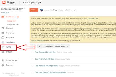 cara menganti template blog