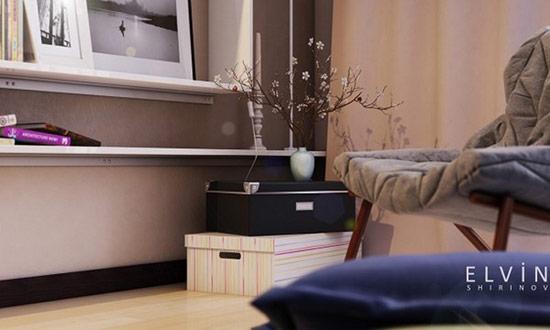Cách sử dụng tông sáng màu và đồ nội thất mảnh, đơn giản khiến căn phòng trông rộng rãi hơn.