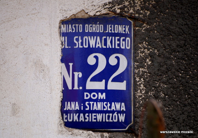 Warszawa Warsaw Wola nazwy ulic tabliczki