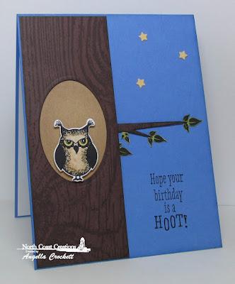 North Coast Creations Who Loves You?, NCC Custom Owl Family Dies, ODBD Custom Ovals Dies, ODBD Custom Sparkling Stars Dies, ODBD Wood Background, Card Designer Angie Crockett