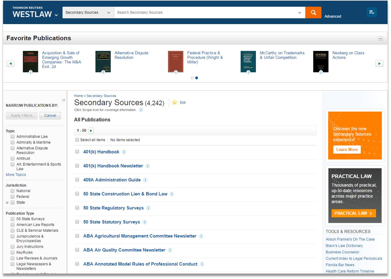 thomsonreuters relaunches online treatises new formats context and rh deweybstrategic com Using Westlaw Westlaw School Logo