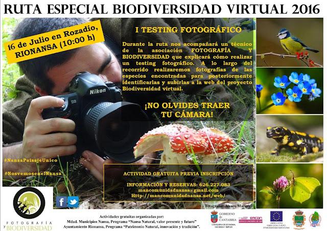 """""""I Testing Fotográfico de Biodiversidad Virtual"""": RUTA DIDÁCTICA ESPECIAL EN EL VALLE DEL NANSA"""