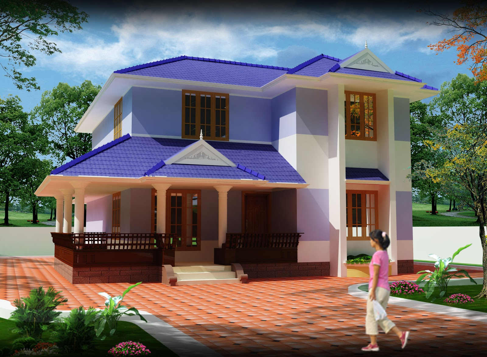1960 Sq Ft Modern Kerala Home Plan 3d Elevation Home Design