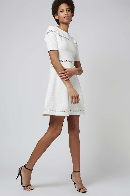 topshop white dress, white bandage dress,