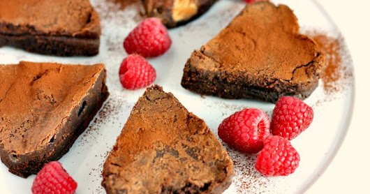 Valentines Day Chocolate Brownie Hearts