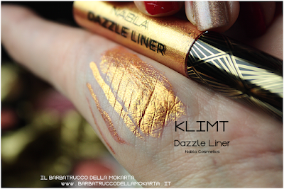 KLIMT swatches eyeliner gold  goldust collection Nabla cosmetics