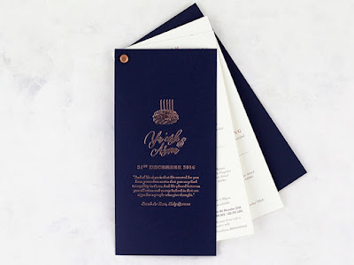 K'Mich Weddings - wedding planning - tanzanite invitation