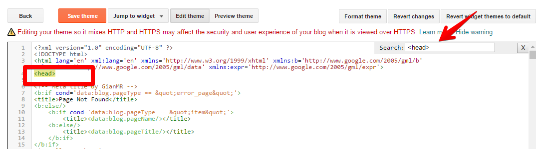 Edit script theme blogger atau blogspot