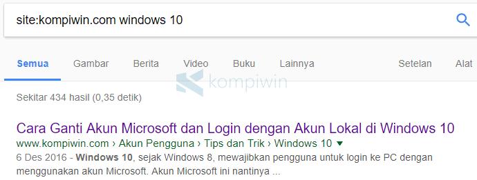 mencari konten google