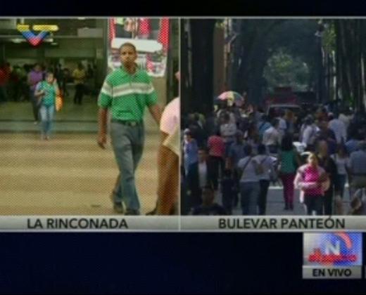 VTV muestra dos calles y asegura que el #ParoNacionalContraMaduro fue un fracaso (Video)