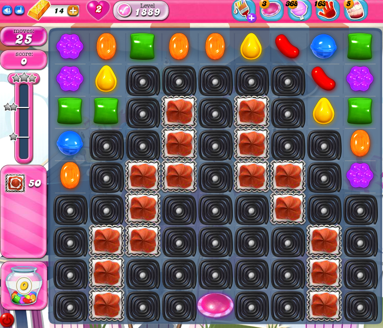 Candy Crush Saga 1889