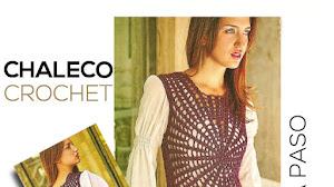 Chaleco crochet con diseño circular / Paso a paso para todos los talles