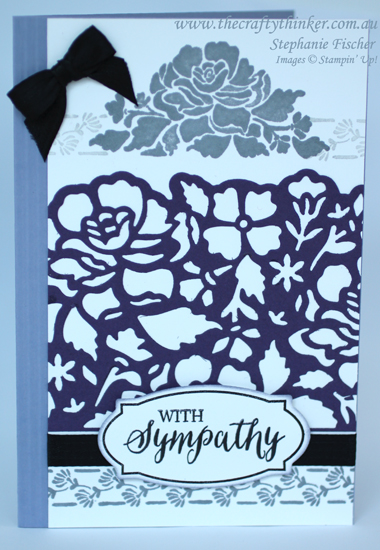 Stampin Up, #thecraftythinker, Floral Phrases, Rose Wonder, Sympathy Card, Stampin Up Australia Demonstrator