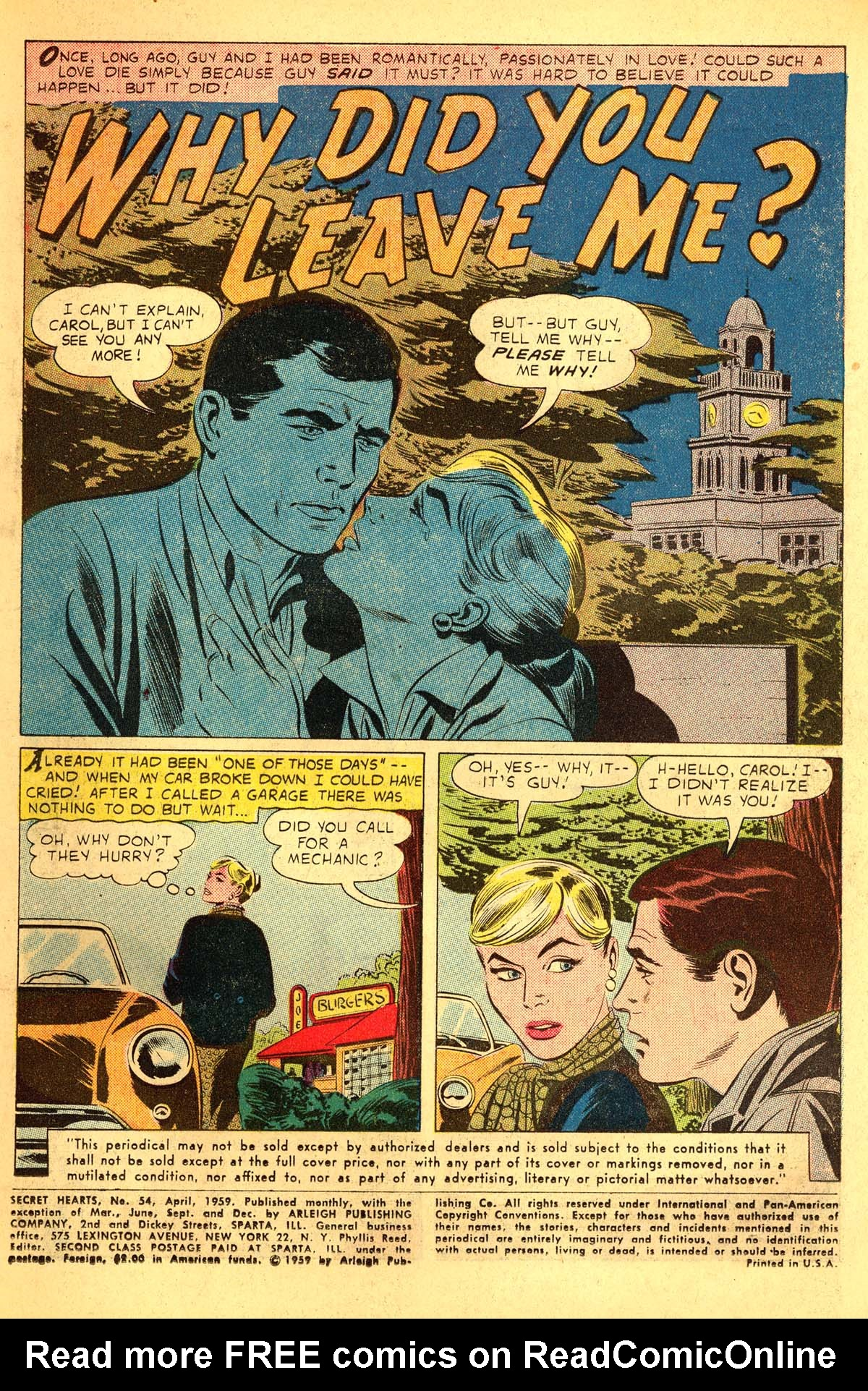 Read online Secret Hearts comic -  Issue #54 - 3