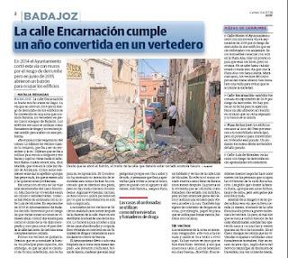 Calle Encarnación Casco Antiguo Badajoz