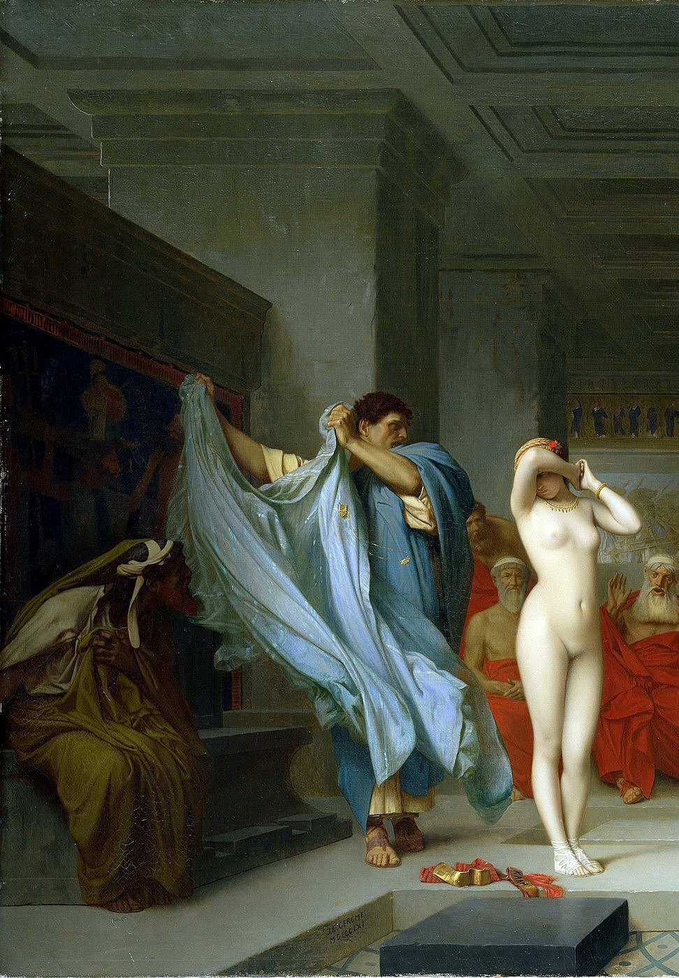 Phryne before the Areopagus, 1861, Jean-Léon Gérôme (11 May 1824 – 10 January 1904)