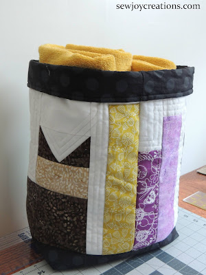 quilt row turned into quilted basket