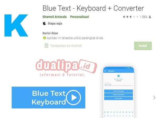 Cara Buat Story WhatsApp Warna Warni Aplikasi Blue Text - Keyboard + Converter