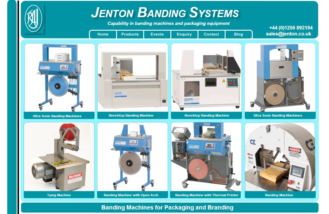 Re Launched Banding Machines Website