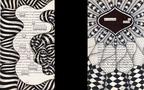 00-Jo-Newsham-Zentangle-Drawings-on-Recycled-Vintage-Book-Pages-www-designstack-co