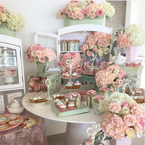 Mesa Romantica Y Vintage Como Candy Bar - Decoracion-romantica-vintage