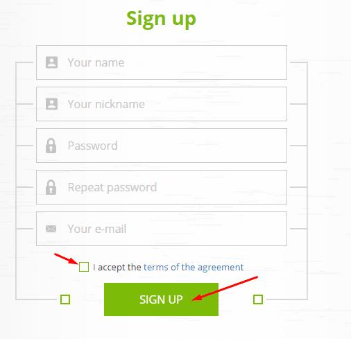 Регистрация в CryptoFound 2