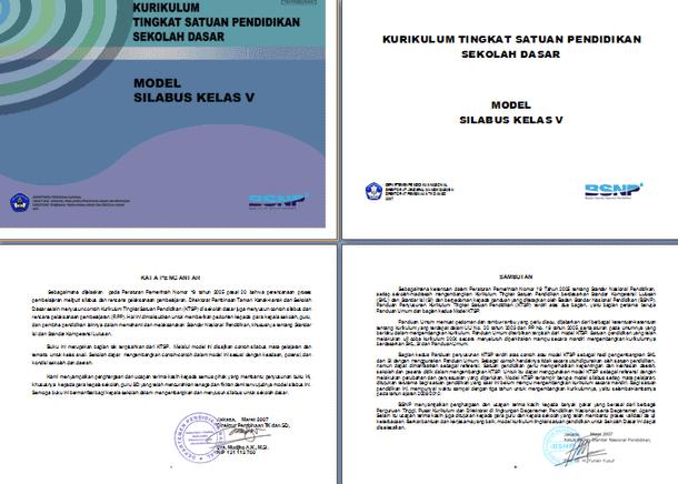 Silabus KTSP SD BSNP Format Microsoft Word