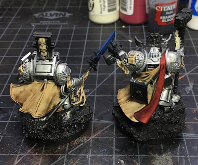 Grey Knight Characters WIP basing the detail back