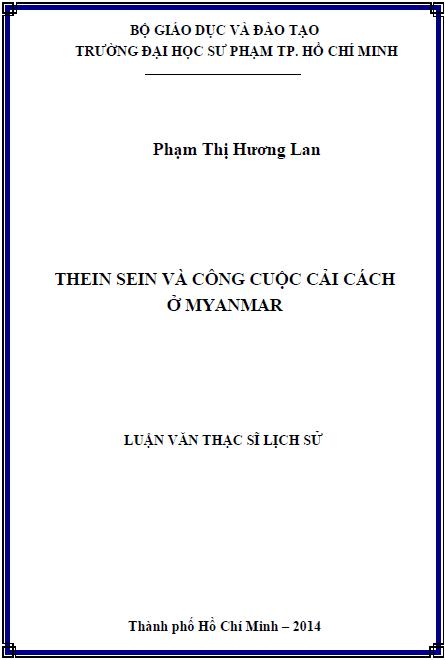 Thein Sein và công cuộc cải cách ở Myanmar