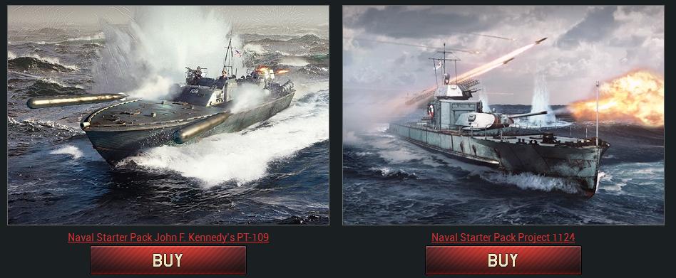 War Thunder - Naval Battles starter packs