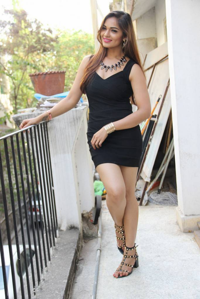 Tollywood Actress Hot Legs Thighs Show In Black Mini Dress Ashwini